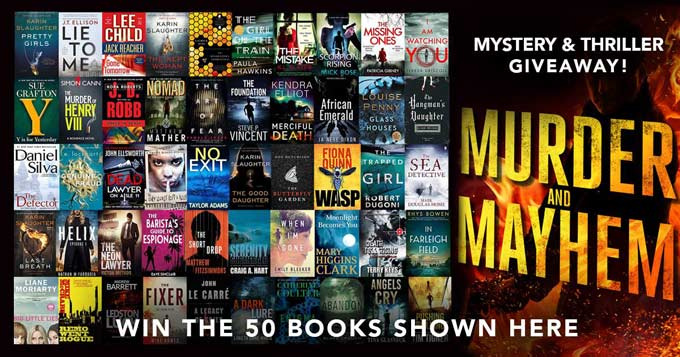 Mega Giveaway. Fifty mystery and thriller books.